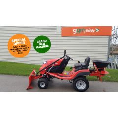 NEW Countax C60 Garden Tractor with Snow Blade and Salt Gritter