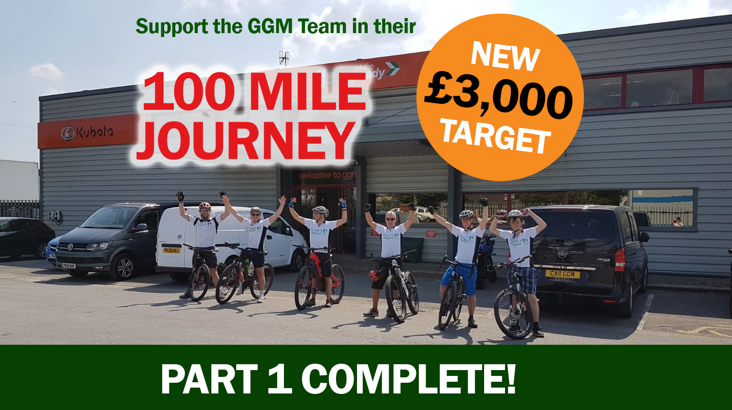 We did it!! The first part of our '100 Mile Journey' Charity Fundraiser was a success!