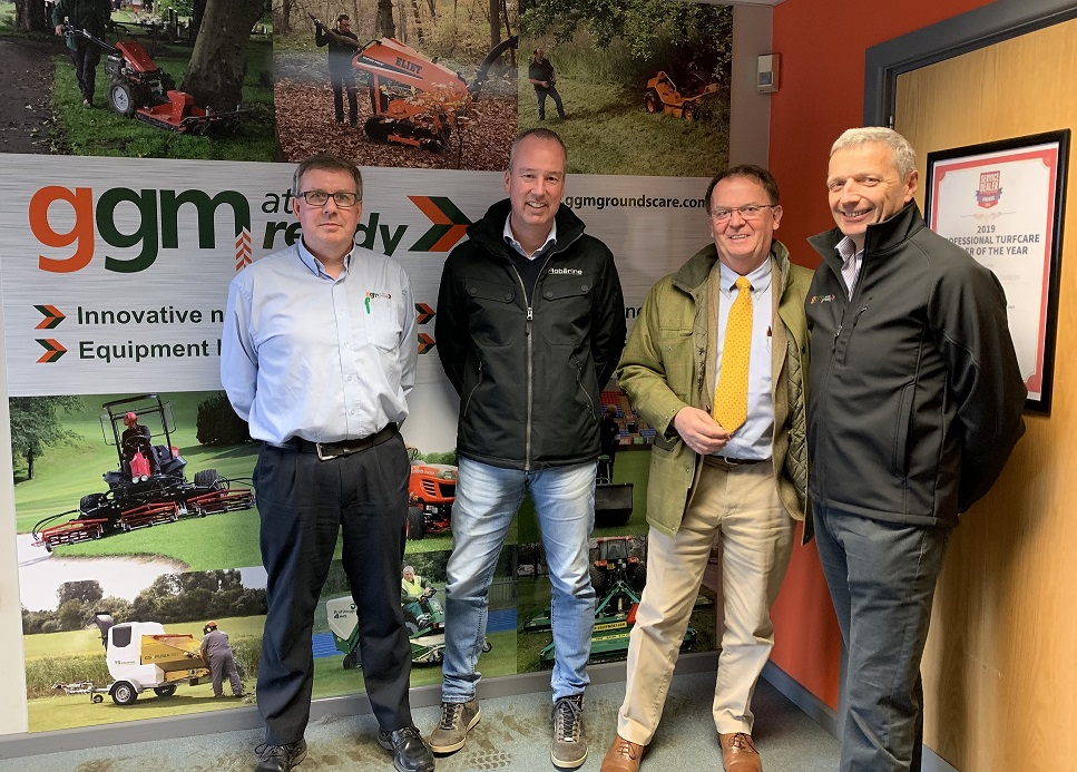 GGM RIDING ON INTO COMMERCIAL MOWERS WITH ROBERINE