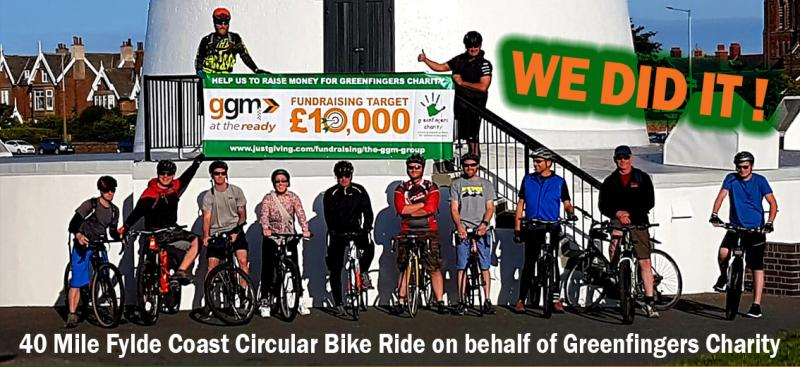 40 Mile Fylde Coast Cycle in aid of Greenfingers Charity