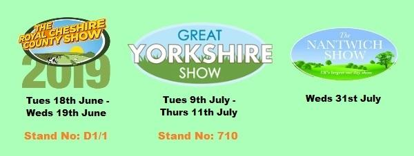 Visit Our Stand at Regional Shows