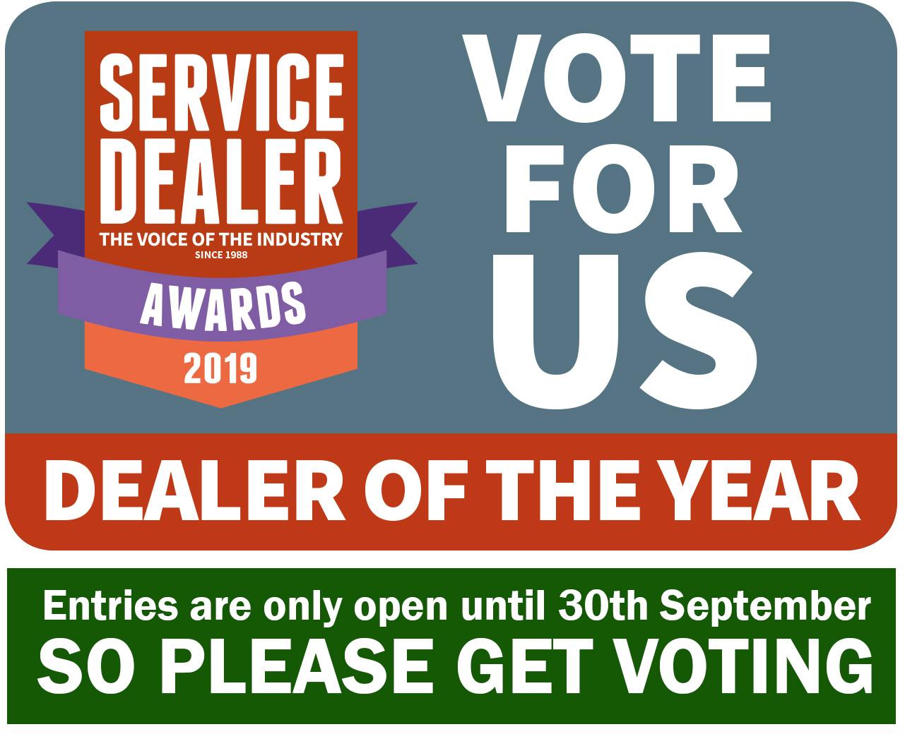 Vote for GGM in the 2019 Service Dealer Awards!!