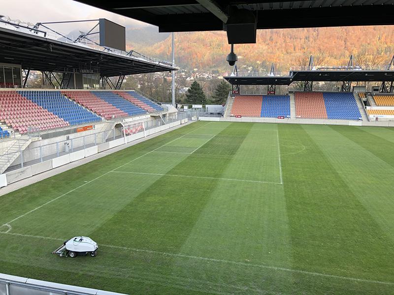 Football pitch robotic mower